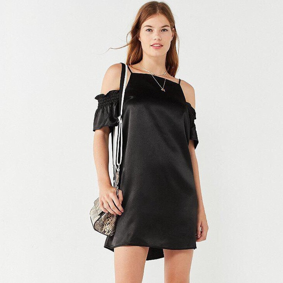 217a201c75 NEW W  TAGS Urban Outfitters Satin Black Dress